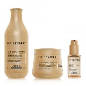 Shampoo + Baume + Sérum Absolut Repair Gold L'Oréal Professionnel