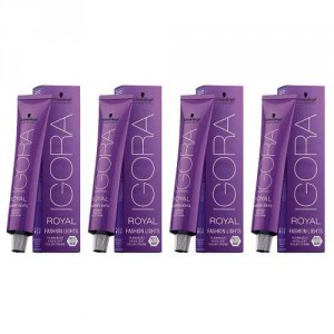 Combo 4 Tinturas Igora Royal Fashion Lights X60g Schwarzkopf