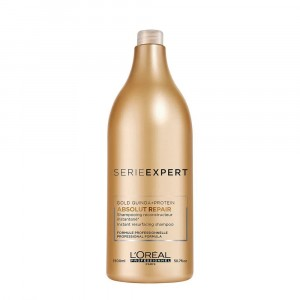 Shampoo Absolut Repair Gold Quinoa Reparación x1500ml Loreal Professionnel
