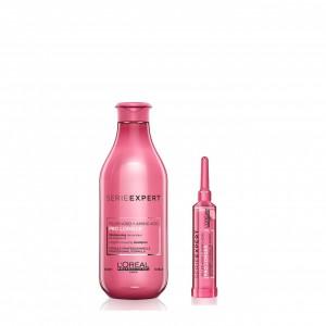 Shampoo 300 ml + Concentrado 15 ml Prolonger Loreal Professionnel
