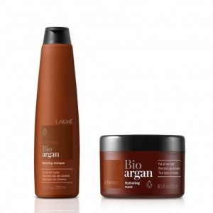 Shampoo 300 Ml Y Tratamiento 250 Ml Bioargan Ktherapy Lakme
