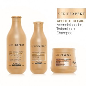 Pack Absolut Repair Chico Loreal Shampoo + Acondicionador + Tratamiento