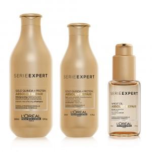 Kit Shampoo + Acondicionador + Serum Absolut Repair L'Oréal Professionnel