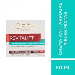 Crema Textura Ligera Piel Mixta Loréal Paris Revitalift 50ml